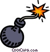 bomb, boom Vector Clipart illustration