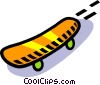 Vector Clipart picture  of a skateboard
