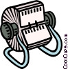 Vector Clipart graphic  of a index cards