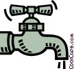 water spout, faucet Vector Clip Art graphic