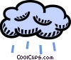 cloud, weather, rain Vector Clipart graphic