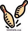 Vector Clipart illustration  of a bowling pins