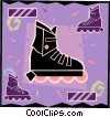 roller blades, sports Vector Clipart picture