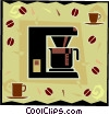automatic coffee maker Vector Clipart picture