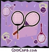 Tennis rackets, sports, racket sports Vector Clipart illustration