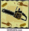Vector Clip Art graphic  of a chainsaw