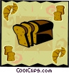 Loaf of bread Vector Clip Art graphic