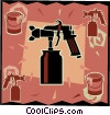 paint sprayer, workshop tools Vector Clipart illustration