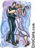 Vector Clipart picture  of a two people dancing