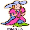 children at play, kids, dressing up Vector Clipart illustration