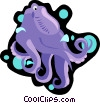 Vector Clip Art picture  of a octopus