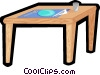 Vector Clipart graphic  of a kitchen table with place