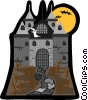 Vector Clip Art picture  of a castle