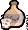 Vector Clipart picture  of a drink tumbler with jug