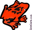 Vector Clipart graphic  of a red tree frog