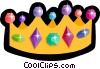 crown with jewels Vector Clipart picture