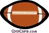 Vector Clip Art image  of a football