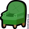 chair, sofa chair Vector Clipart illustration
