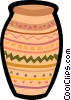 painted vase Vector Clipart picture