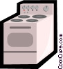 kitchen stove Vector Clipart illustration