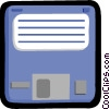 Vector Clip Art graphic  of a 35mm diskette