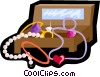 Vector Clip Art picture  of a jewelry box