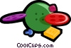 Vector Clip Art graphic  of a clothes buttons