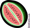 Vector Clipart graphic  of a watermelon
