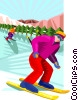 winter sports, skiing Vector Clip Art picture