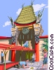 Mann's Chinese theatre, Los Angeles Vector Clipart graphic