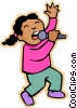 Vector Clip Art graphic  of a children at play