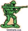 Vector Clipart illustration  of a toy soldier
