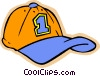 children at play, kids, baseball hat Vector Clip Art graphic