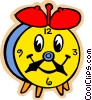toy clock Vector Clip Art graphic
