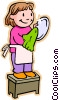 Vector Clipart image  of a children at play