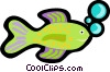 Vector Clipart graphic  of a designer fish