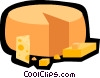 cheese, dairy Vector Clipart illustration