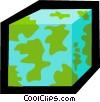 Vector Clip Art graphic  of a square world symbol