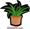Vector Clip Art graphic  of a house plant