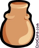 pottery urn, vessel Vector Clip Art picture