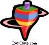 Vector Clipart illustration  of a toy spinning top