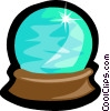 Vector Clipart illustration  of a crystal ball