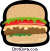 fast food, hamburger, burger Vector Clipart graphic