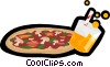 pizza, fast food Vector Clipart picture