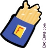 Vector Clipart illustration  of a French fries
