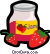 Vector Clip Art graphic  of a strawberry jam