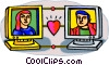 Vector Clipart image  of a internet love