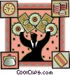 Vector Clipart image  of a the gears of finance