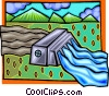 Water filtration, nature Vector Clip Art image