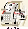 Vector Clipart graphic  of an adding machine